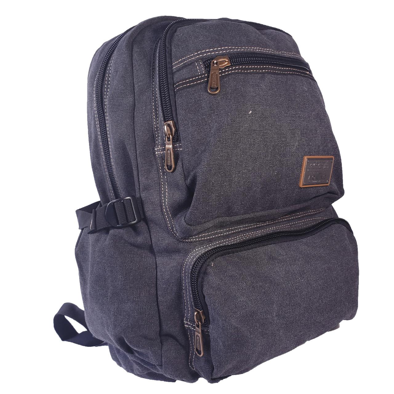 Брезентовый(джинсовый) большой рюкзак Aoking