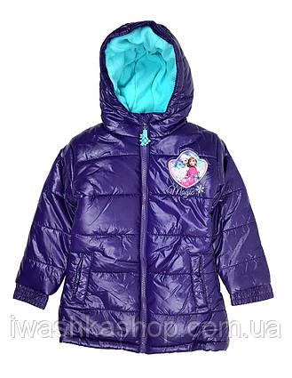 Теплая фиолетовая куртка еврозима Frozen, Холодное сердце на девочку 4 лет, р. 104, Disney / Frozen.