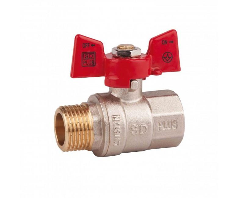 Кран шаровый 1/2 БГГ (вода) PN40  SD Plus