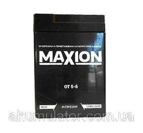Акумулятор промисловий MAXION 6V 5Ah