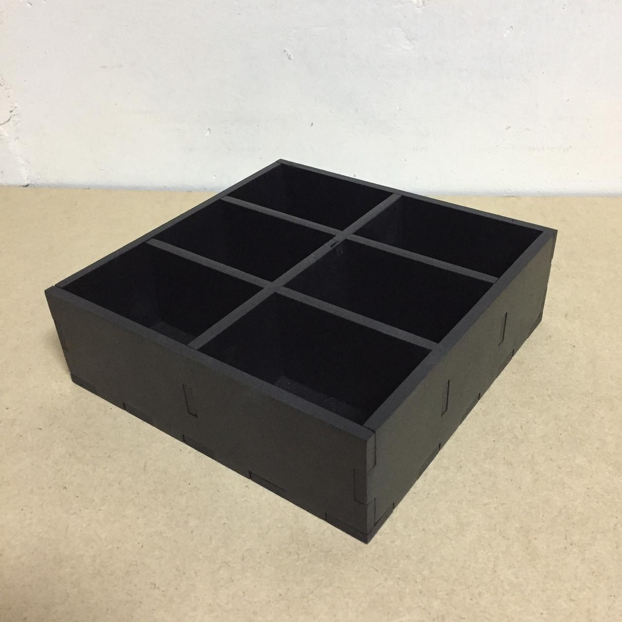 """Подставка для чайных пакетиков на 6 ячеек """"Черный"""""""