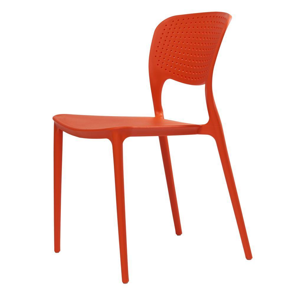 Пластиковый стул SPARK (Спарк) оранжевый от Concepto