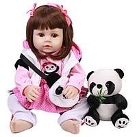 Кукла реборн 45 см полностью виниловая девочка Нина