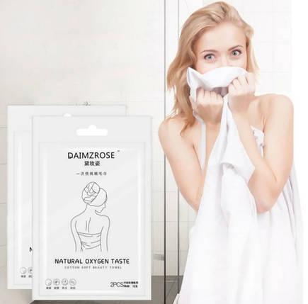 Одноразовое полотенце, 2шт/уп. 30*60/60*130см. (одноразовые салфетки), фото 2