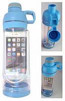 Спортивная бутылка для воды и телефона SO-KID Н-606 400 мл Голубая