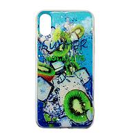 Чехол Fiji для Apple Iphone XS бампер с рисунком Summer Fruit Kiwifruit