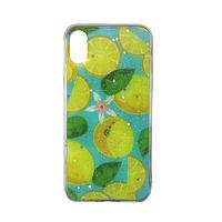 Чехол Fiji для Apple Iphone XS бампер с рисунком Summer Fruit Lemon
