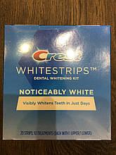 Відбілюючі смужки для зубів, Crest Whitestrips, Noticeably White, 2*10 шт