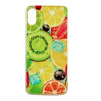 Чехол Fiji для Apple Iphone XS бампер с рисунком Summer Fruit Mix Fruit