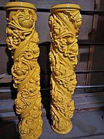 Колонны на Иконостас в Украине, Резная колонна для Храма, Столб, Спираль, Капитель, Подколонник, Винт