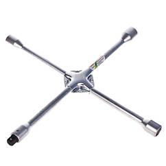 "Ключ балонный крест усиленный, 17,19,21,22 мм. с переходником под 1/2"".(1474DH-16) (1474DH-16) HANS"