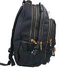 Брезентовий(джинсовий) великий рюкзак GoldBe! на 50л, фото 6