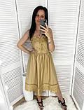 Нежное платье-сарафан с завышенной талией и ажурной кружевной отделкой,ткань-хлопок, 4цвета Р-р.S, M Код 630Т, фото 2