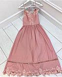 Нежное платье-сарафан с завышенной талией и ажурной кружевной отделкой,ткань-хлопок, 4цвета Р-р.S, M Код 630Т, фото 3
