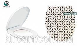"""Сиденье для унитаза с крышкой (пластик) Louis Vuitton """"Луи Виттон"""" Elif plastik , Турция 36,5х45 см"""
