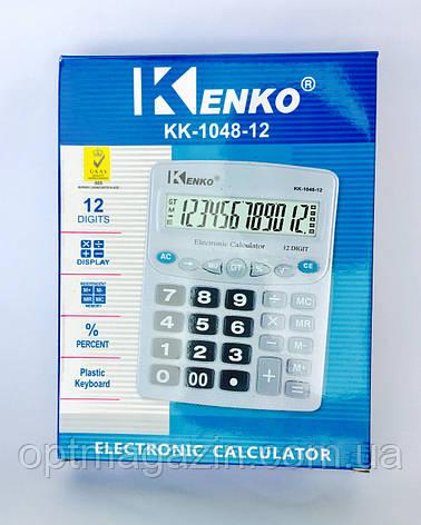 Калькулятор Kenko KK-1048-12\ Калькулятор Кенко КК-1048-12, фото 2