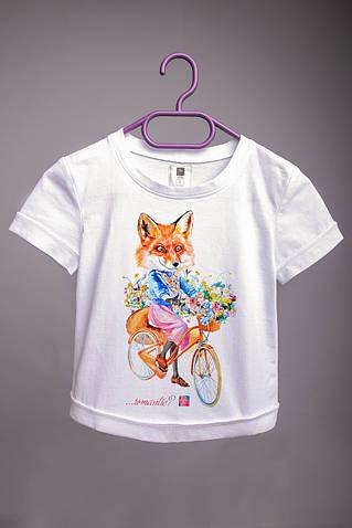 Детская футболка с принтом Лиса
