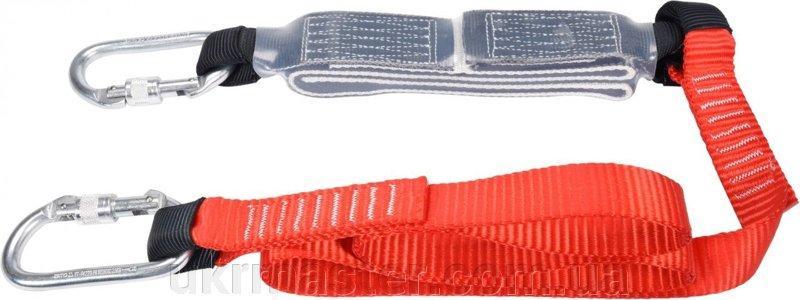 Строп страховочный с амортизацией l= 180 см, w= 30 мм, из полиэстеровой ленты + 2 карабина Yato YT-74227