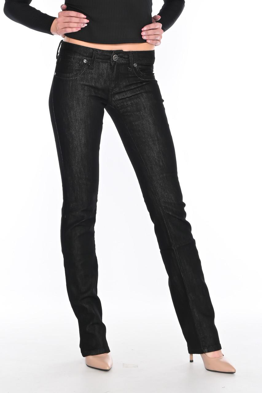 Женские джинсы Omat jeans 9584-719 чёрные