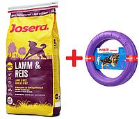 Сухой корм Josera Lamb and Rice для собак, с ягненком 15 кг + puller standart 28см в подарок