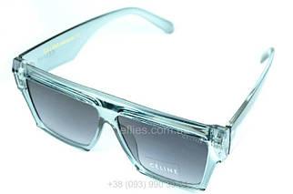 Жіночі квадратні сонцезахисні окуляри Celine Чорні в блакитній оправі AAA Copy