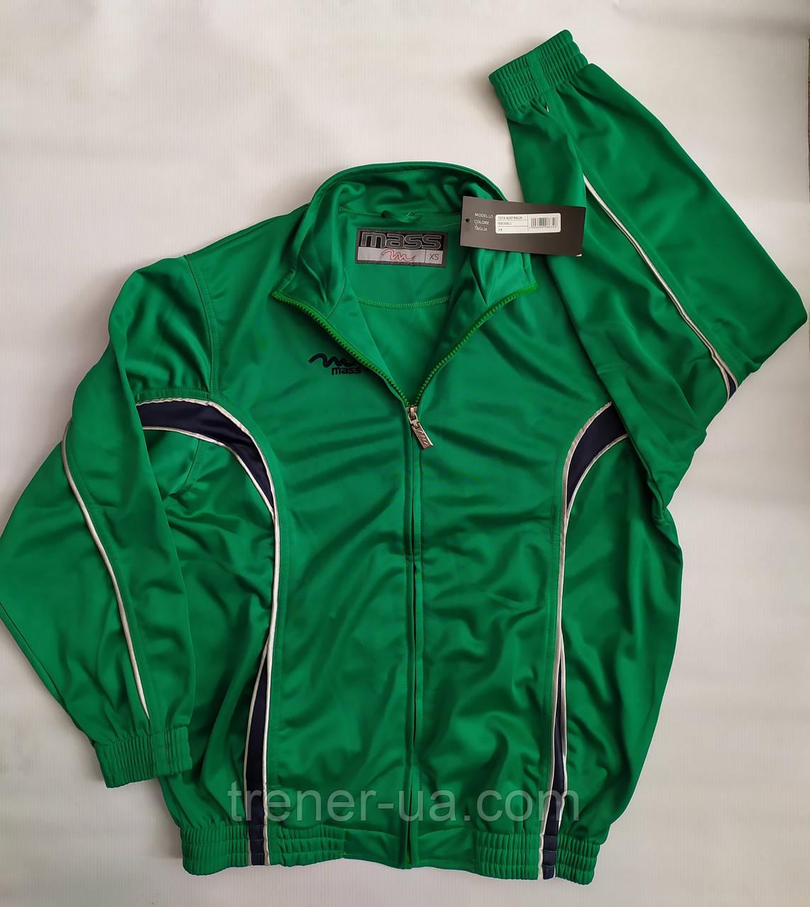 Спортивный костюм зелёный подросток взрослый в стиле Mass производства Италия