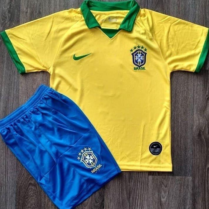 Детская футбольная форма национальной сборной Бразилия желтый сезон 2019