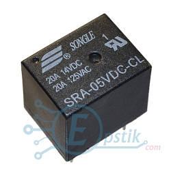 SRA-05VDC-CL, реле 5В, 20А