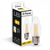 Светодиодная лампа Feron LB-58 4W E27 2700K, фото 1