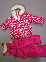 Зимний костюм с комбинезоном  для девочки 104, 116  рост, фото 1