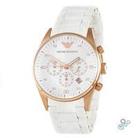 Кварцевые мужские часы Emporio Armani AR-5905 Gold-White Silicone ( ААА )