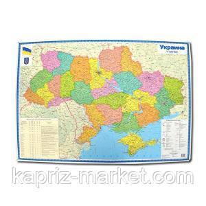 Политическая карта Украины 96см х 66см