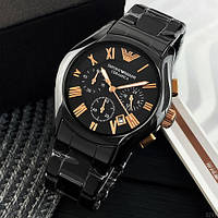 Кварцевые мужские часы Emporio Armani AR-1400 Black-Gold ( ААА )