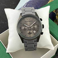 Кварцевые мужские часы Emporio Armani AR-5905 Gray-Black Silicone ( ААА )