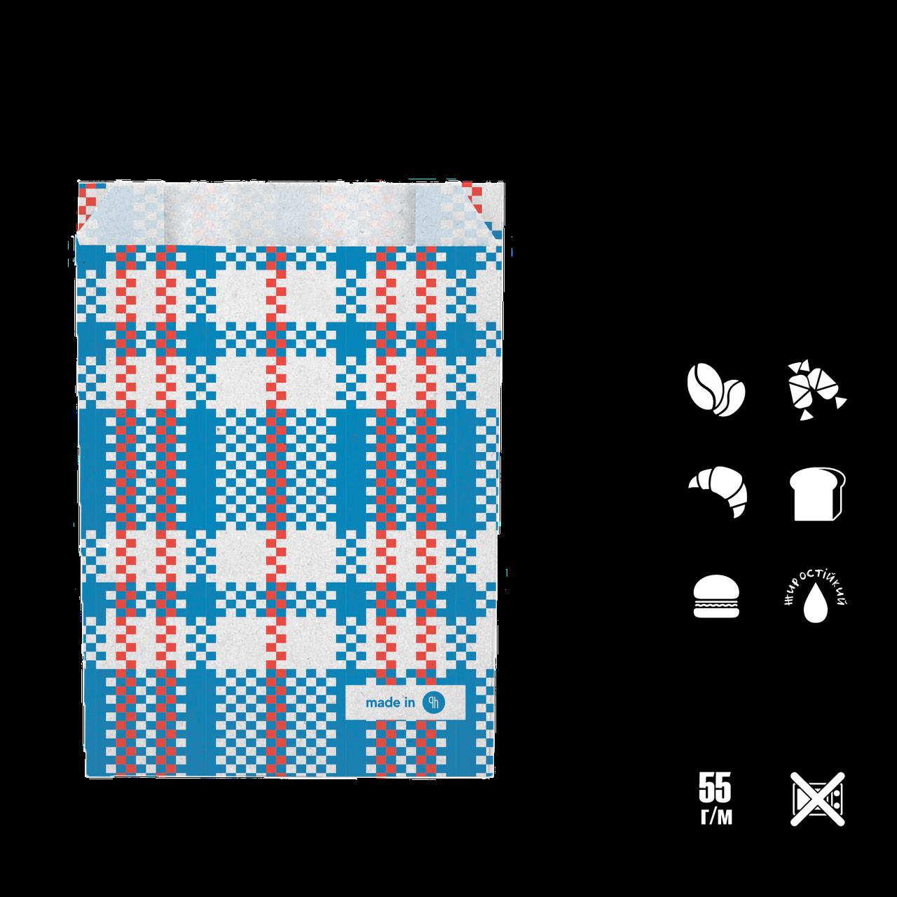 """Бумажный Пакет """"Baul"""" жиростойкий 170*120*40 (В*Ш*Г) 55г/м2 уп/100шт"""
