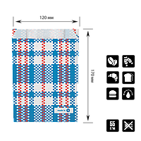 """Бумажный Пакет """"Baul"""" жиростойкий 170*120*40 (В*Ш*Г) 55г/м2 уп/100шт, фото 1"""