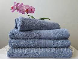 Махровое полотенце 50х70, 100% хлопок 550 гр/м2, Пакистан, Серый голубой