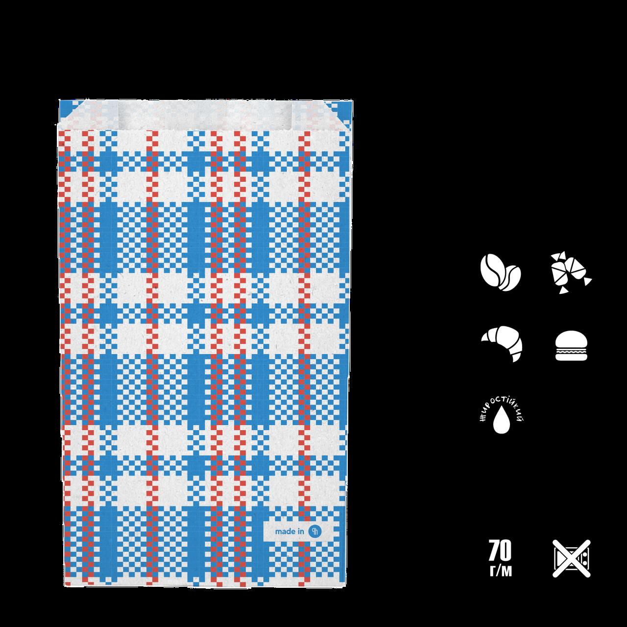 """Бумажный Пакет """"Baul"""" жиростойкий 220*140*50 (В*Ш*Г) 70г/м2 уп/100шт"""