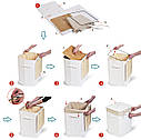 Корзина для белья Tatkraft CALIFORNIA 60 л с внутренним чехлом. 35X35X50см, фото 3