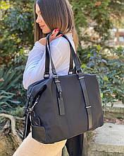 Женская вместительная сумочка Polina&Eiterou в черном цвете