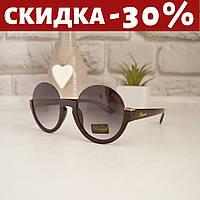 Очки солнцезащитные женские +чехол очки женские круглые полуободковые