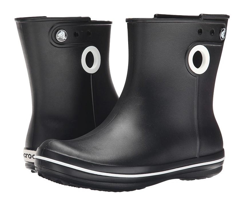 Сапоги резиновые женские короткие с кружочком / Crocs Women's Jaunt Shorty Boot (15769), Черные