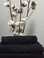 Махровое полотенце 50х70, 100% хлопок 550 гр/м2, Пакистан, Черный