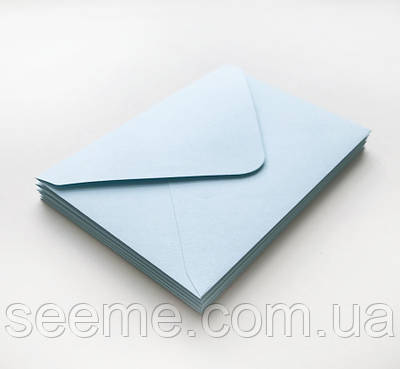 Конверт 175x125 мм, колір світло-блакитний