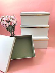 Коробка квадратная подарочная белая