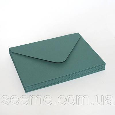 Конверт 175x125 мм, колір зелено-блакитний (тіл)