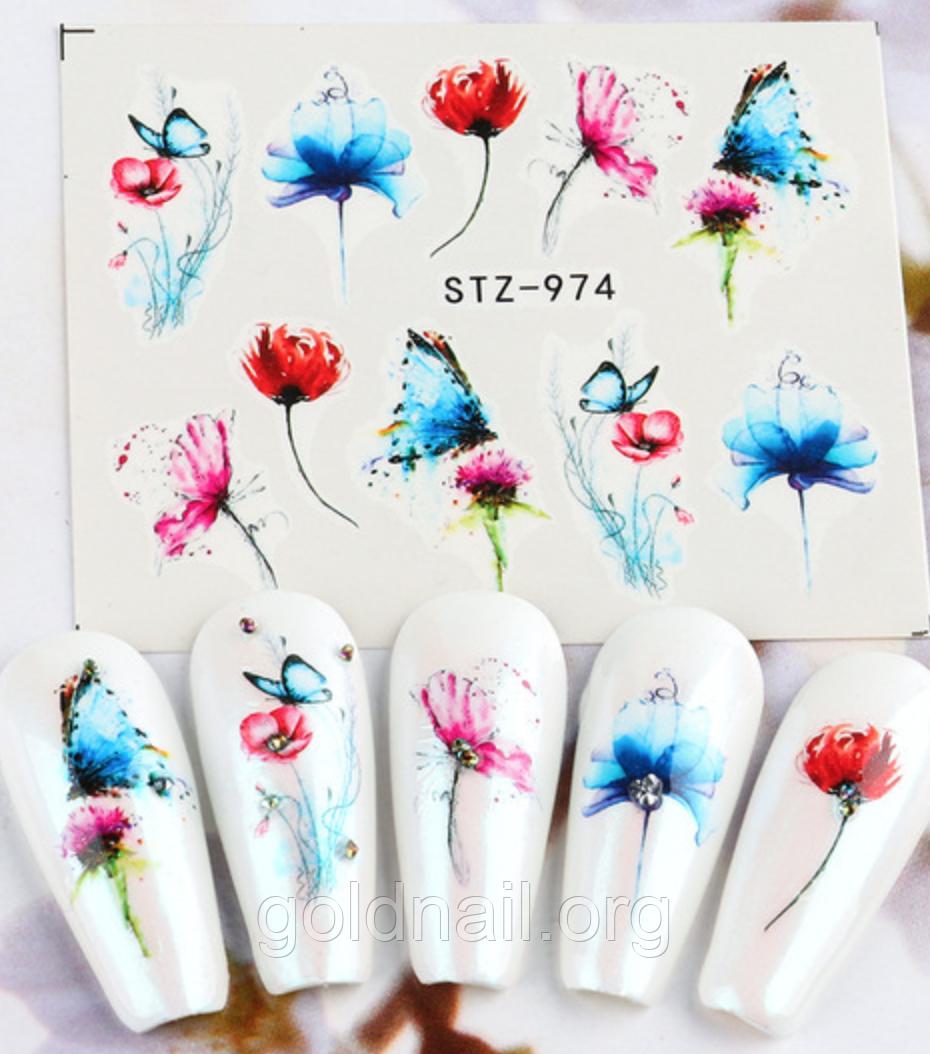 Слайдер дизайн для нігтів водний STZ-974