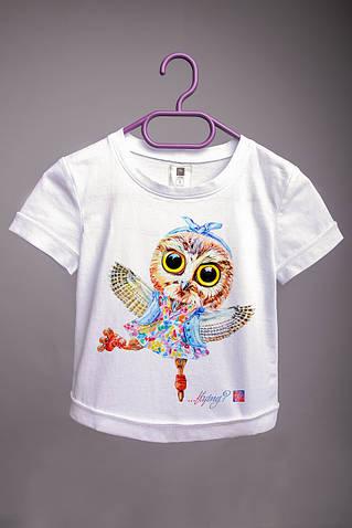 Детская футболка с принтом Сова