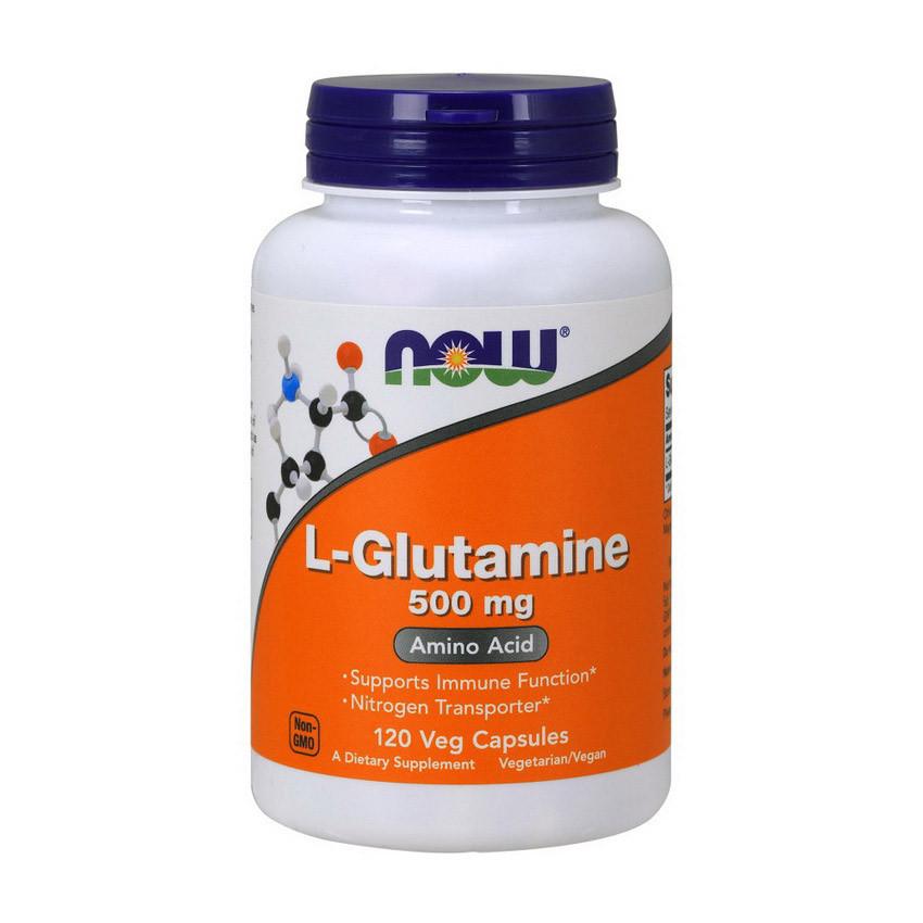 Глутамин Now Foods L-Glutamine 500 mg 120 caps