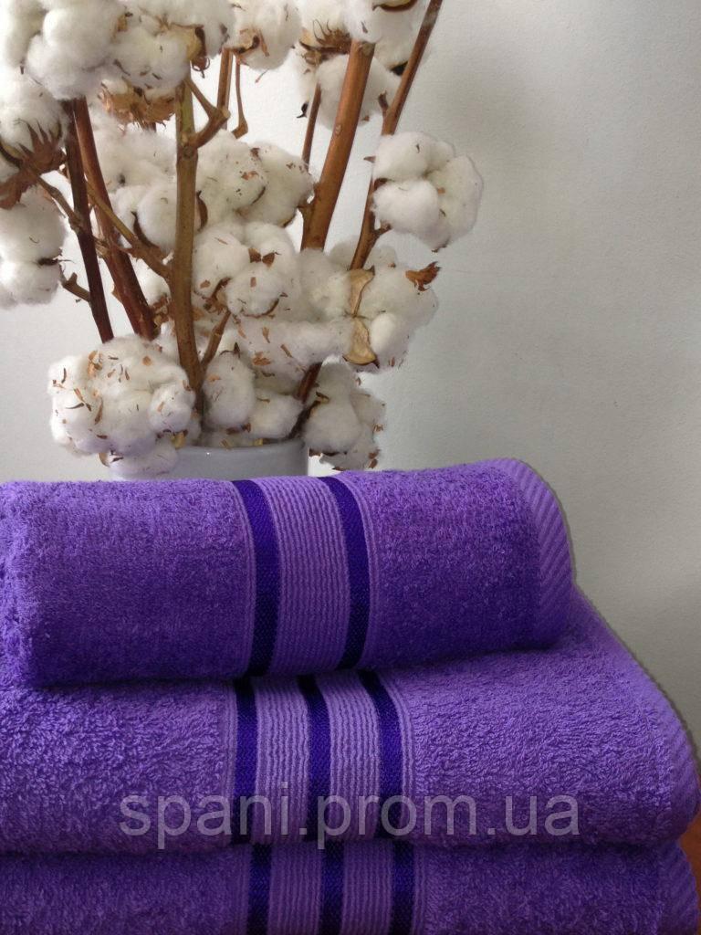 Махровое полотенце 50х70, 100% хлопок 550 гр/м2, Пакистан, Фиолет